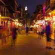 New Orleans, Bourbon Street at Night, skyline photography - Stock Photo