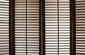 Ahşap pencere panjur — Stok fotoğraf