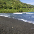 Black Sand Beach - Stock Photo