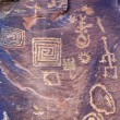 Ancient Petroglyphs V Bar V Heritage Site — Stock Photo