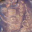 Ancient Petroglyphs V Bar V Heritage Site — Stock Photo #8858864