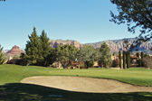 Beautiful Sedona Arizona Golf Course — Stock fotografie