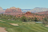 Campo de golf hermosa sedona arizona — Foto de Stock