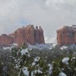 Stock Photo: Cathedral Rock Snow