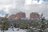 Winter at Cathedral Rock — Stock Photo