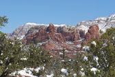 Red Rock Sedona in Winter — Stock Photo