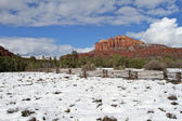 Cathedral Rock Snow — Stock Photo