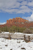 Cathedral Rock in Winter — Stock Photo