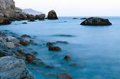 Stone ridge and the sea. A landscape — Stock Photo