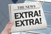 Notícias extras — Fotografia Stock
