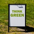 Think Green sign — Stock Photo