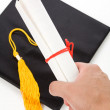 Black Mortarboard — Stockfoto