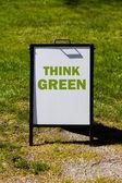 Credo che il segno verde — Foto Stock