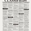 Classified Ad — Stock Photo