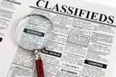 Anuncio clasificado — Foto de Stock