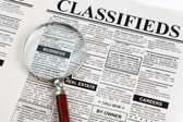 Classified Ad — Foto Stock