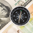 Compass and dollar — Stock Photo #10291553