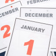 Calendar New Year's Day — Stock Photo #10410946