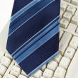 Stock Photo: Blue Necktie and Keyboard
