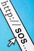 Online SOS — Stock Photo
