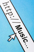 Searching Music Online — Stock Photo
