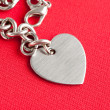 Stock Photo: Chain and Heart Shape