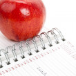 Red apple and Personal Organizer - Stockfoto