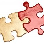 Golden Puzzle — Stock Photo