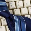 Blue Necktie and Keyboard — Stock Photo #8085969
