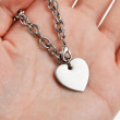 Chain and Heart Shape — Stock Photo