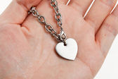 Chain and Heart Shape — Stock Photo
