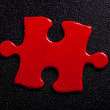 Red Puzzle — Stock Photo