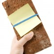 Red Brick and Threat letter — Stock Photo