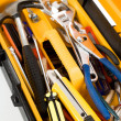 Yellow Toolbox — Stock Photo