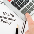 Health Insurance Policy - Foto Stock