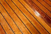Holzfußboden — Stockfoto