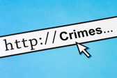 Online Crimes — Stock Photo