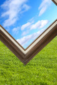 Picture Frame and sky — Stock Photo