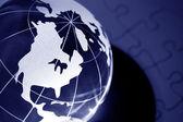 Globe and Puzzle — Stock Photo