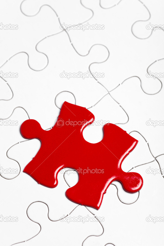 Red Puzzle, business concept of Solution — Stock Photo #8163769