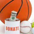 Sport funds — Stock Photo