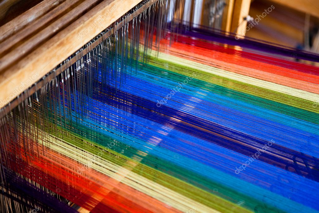 Loom weaving close up shot — Stock Photo #8745656