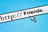 Friends in cyberspace — Stock Photo