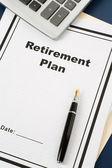 Pensionsplan — Stockfoto