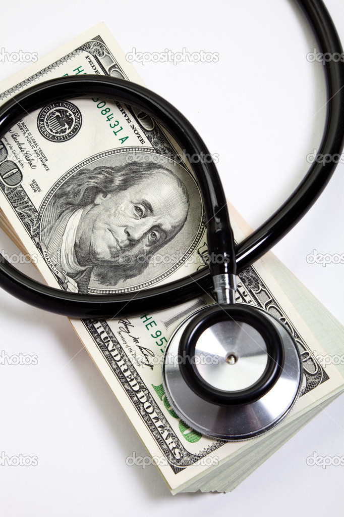 Stethoscope and dollar, concept of Financial Health  Stock Photo #8927310