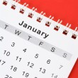 Stock Photo: Calendar January