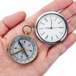 Compass and Clock — Stock Photo #8949439