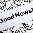 Royalty-Free Stock Photo: Good News and Home Sign