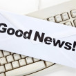 Good News and computer keyboard — Stockfoto