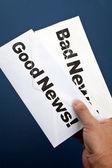 Good News and bad news — Stock Photo